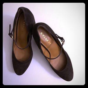 Coach Platform Mary Jane Pump Heels